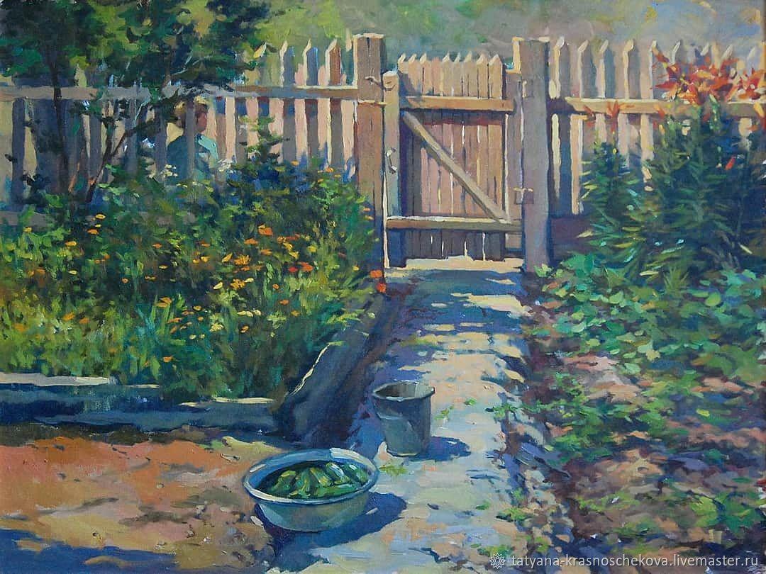 картина маслом Летом на даче, Картины, Самара,  Фото №1