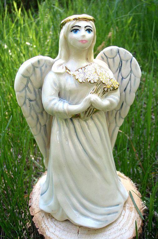 """Колокольчики ручной работы. Ярмарка Мастеров - ручная работа. Купить Авторский колокольчик """"Весенний Ангел"""". Handmade. Колокольчик, керамический колокольчик"""