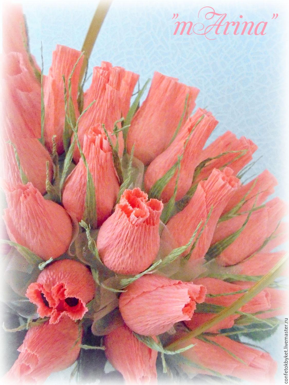 Как сделать бутоны роз из гофрированной бумаги