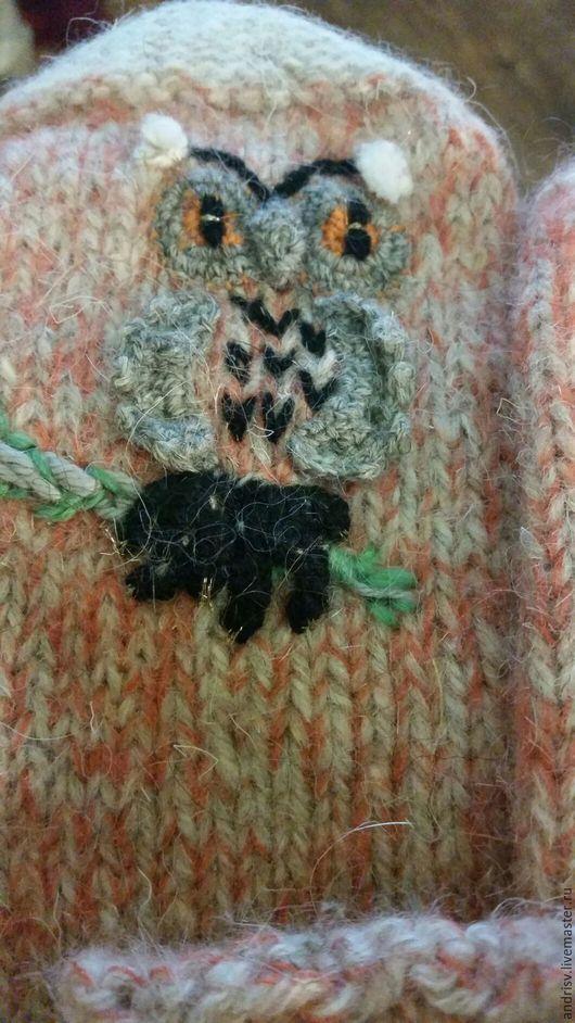 Комплекты аксессуаров ручной работы. Ярмарка Мастеров - ручная работа. Купить Варежки носки Совушки для суровой зимы. Handmade. Комбинированный