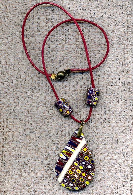 """Кулоны, подвески ручной работы. Ярмарка Мастеров - ручная работа. Купить Кулон """"КРУЖКИ"""". Handmade. Комбинированный, разноцветный, разноцветный кулон"""