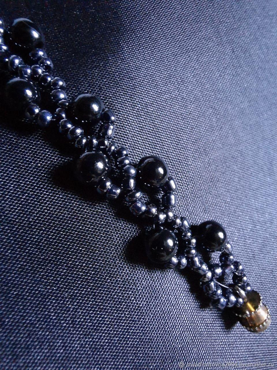 Браслет(ожерелье)из бусин и бисера, Браслет из бусин, Минск,  Фото №1