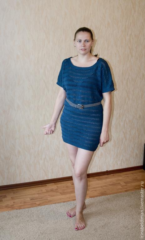 Платья ручной работы. Ярмарка Мастеров - ручная работа. Купить вязаное платье-туника. Handmade. Однотонный, платье-туника