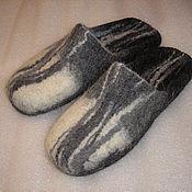 """Обувь ручной работы. Ярмарка Мастеров - ручная работа валяные тапочки """" Линии"""". Handmade."""