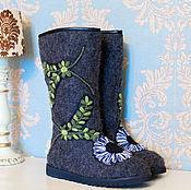 """Обувь ручной работы. Ярмарка Мастеров - ручная работа Валенки для взрослых """"Солнце"""" темные. Handmade."""