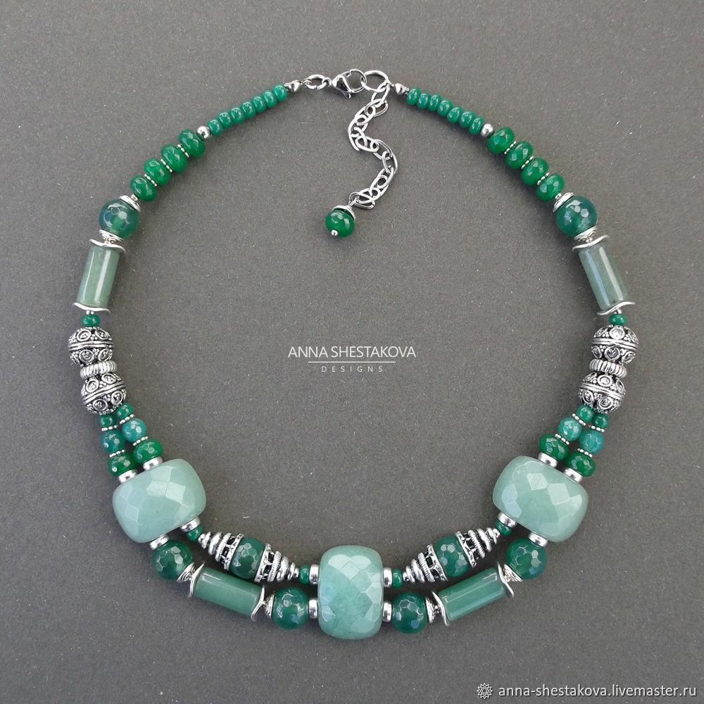 d8df25f63e9f Зеленое колье из натуральных камней – купить в интернет-магазине на Ярмарке  ...