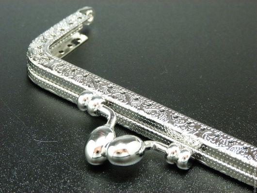 Шитье ручной работы. Ярмарка Мастеров - ручная работа. Купить Фермуар 10,5 см Оливки, прямоугольный, серебро. Handmade.