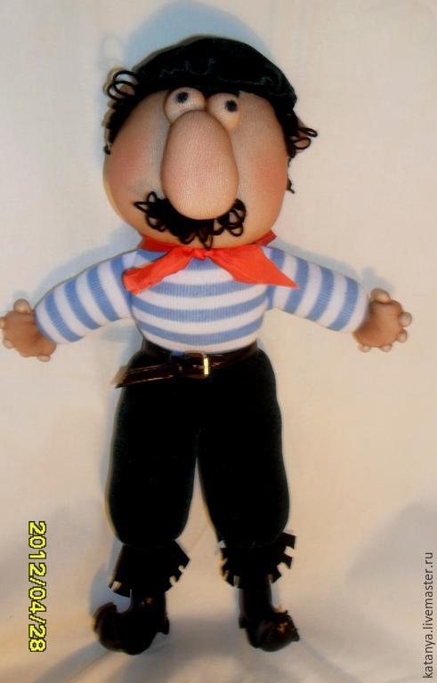 Человечки ручной работы. Ярмарка Мастеров - ручная работа. Купить Моряк. Handmade. Авторская кукла, оригинальный подарок, морская тема