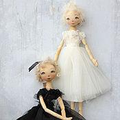 Куклы и игрушки ручной работы. Ярмарка Мастеров - ручная работа Белое и Чёрное. Куклы балерины.. Handmade.