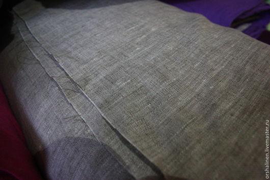 Шитье ручной работы. Ярмарка Мастеров - ручная работа. Купить Ткань костюмная серая. Handmade. Серый, льняная ткань