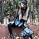 Black bag genuine leather 'Skull' with 3D effect, Classic Bag, Moscow,  Фото №1