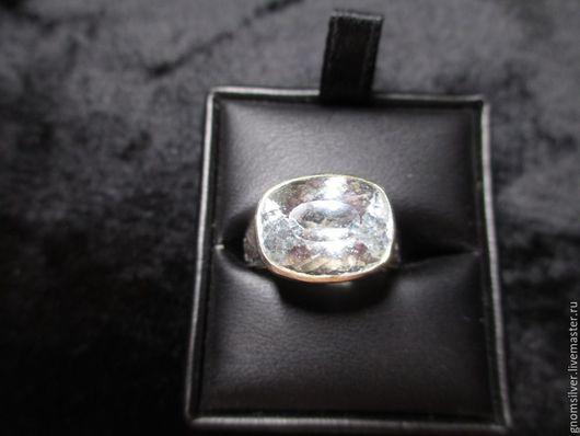 Кольца ручной работы. Ярмарка Мастеров - ручная работа. Купить Уникальное кольцо с белым бериллом (гошенитом) 9,88 карата. Handmade.