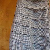 Одежда ручной работы. Ярмарка Мастеров - ручная работа Юбка с оборками белая в горошек Севилья. Handmade.