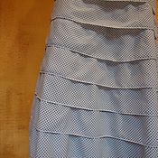 Одежда handmade. Livemaster - original item skirt with ruffle white polka dot seville. Handmade.