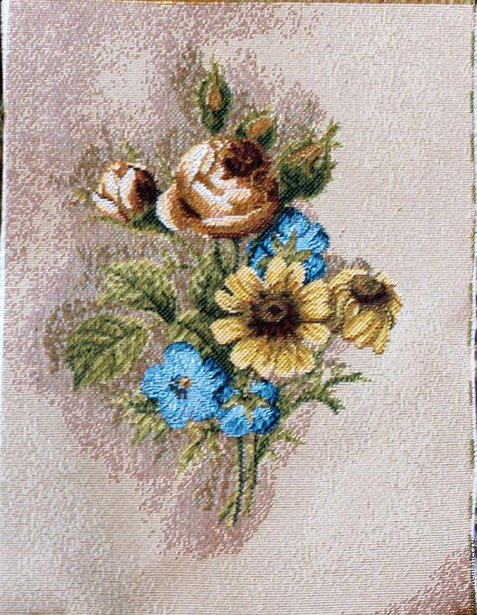 Шитье ручной работы. Ярмарка Мастеров - ручная работа. Купить БУТОНЬЕРКА: розы: гобеленовая заготовка, 24-17 см. Handmade.
