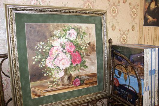 """Картины цветов ручной работы. Ярмарка Мастеров - ручная работа. Купить """"Вдохновение """" картина маслом. Handmade. Картина для интерьера"""