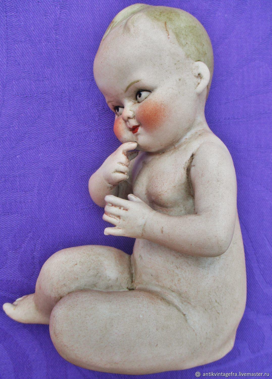 Винтаж: Старинная статуэтка Bebe reveur бисквит хойбах Heubach Германия, Кухонная утварь винтажная, Орлеан,  Фото №1