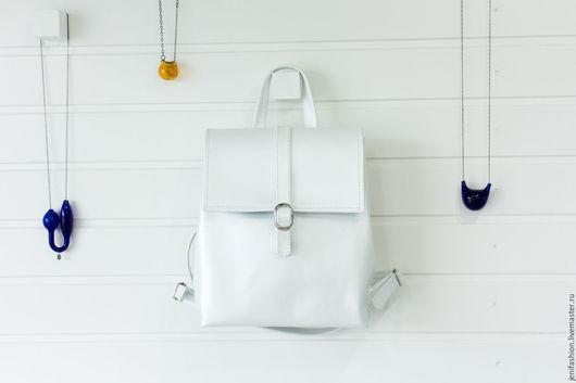 """Рюкзаки ручной работы. Ярмарка Мастеров - ручная работа. Купить Кожаный рюкзак - """"Жемчужина"""". Handmade. Белый, летний рюкзак"""