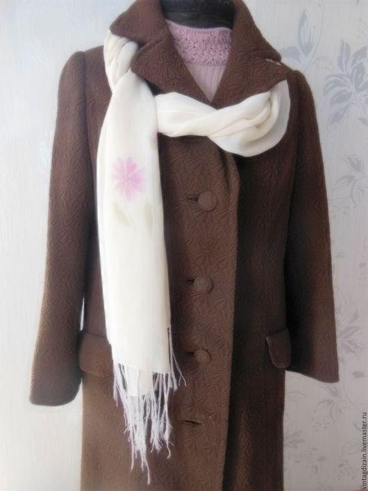 Одежда. Ярмарка Мастеров - ручная работа. Купить Пальто винтаж кримплен. Handmade. Коричневый, винтаж, плащ, ткань
