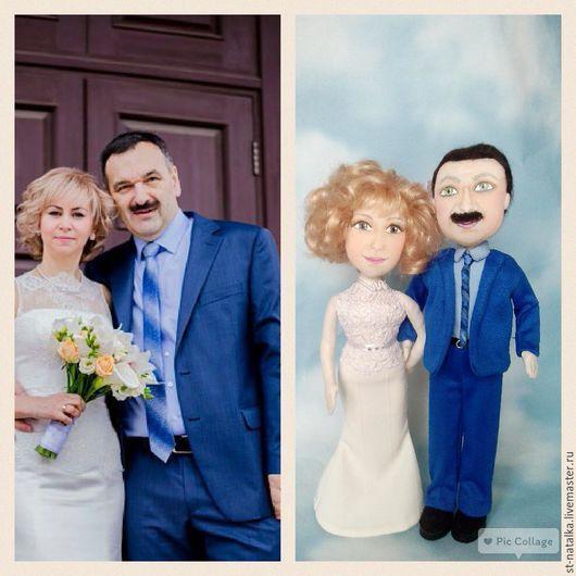 Портретные куклы ручной работы. Ярмарка Мастеров - ручная работа. Купить куколка по фото. Handmade. Белый, свадебное платье, молодожены
