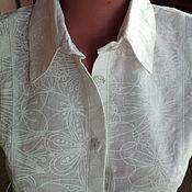 Одежда handmade. Livemaster - original item Blouse linen white. Handmade.