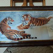 Картины и панно ручной работы. Ярмарка Мастеров - ручная работа Амурские тигры. Handmade.