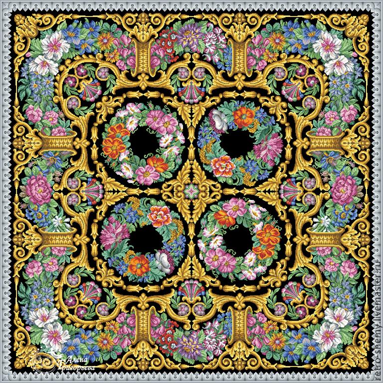 """Схема вышивки """"Цветочный"""