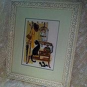 """Картины и панно ручной работы. Ярмарка Мастеров - ручная работа Интерьерная картина """"В прихожей"""". Handmade."""