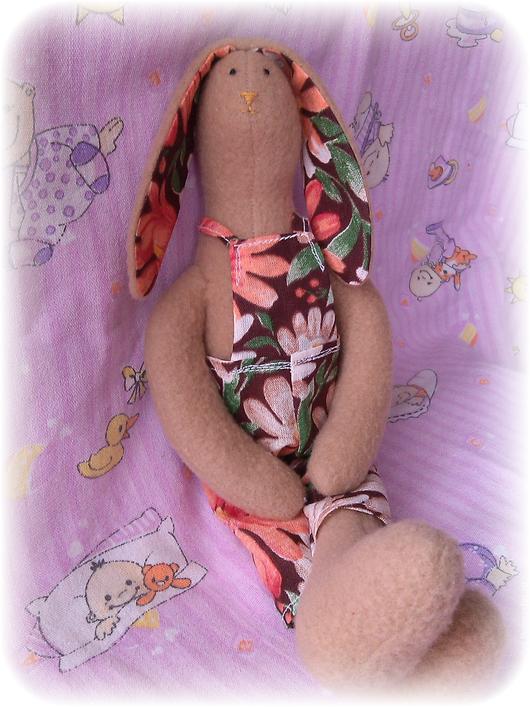 Куклы Тильды ручной работы. Ярмарка Мастеров - ручная работа. Купить Тильда заяц Ларри. Handmade. Бежевый, тильда зайцы