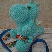 Мягкие игрушки ручной работы. Ярмарка Мастеров - ручная работа Игрушка вязаная дракон Митя. Handmade.