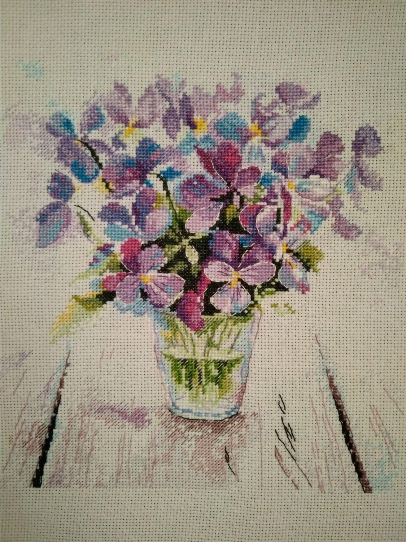 Картины цветов ручной работы. Ярмарка Мастеров - ручная работа. Купить  Вышивка крестом