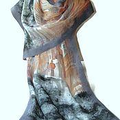 Аксессуары handmade. Livemaster - original item Batik Tippet felted streets of Paris. Handmade.