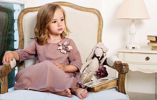 """Одежда для девочек, ручной работы. Ярмарка Мастеров - ручная работа. Купить Платье """"Кофейная дымка"""". Handmade. Бежевый, в подарок"""
