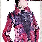 Одежда handmade. Livemaster - original item Women`s jacket made of natural crocodile Python, short jacket.. Handmade.