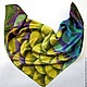 Batik scarf 'Snake'. Shawls1. OlgaPastukhovaArt. My Livemaster. Фото №4
