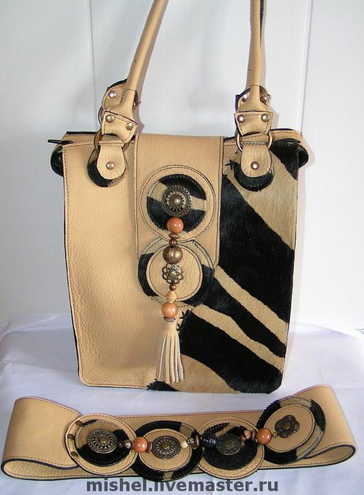 Женские сумки ручной работы. Ярмарка Мастеров - ручная работа. Купить Новая Африка с поясом.. Handmade. Желтый, сумка кожаная