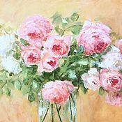 Картины и панно handmade. Livemaster - original item Oil painting Bouquet of English roses. impressionism. Handmade.