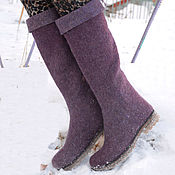 """Обувь ручной работы. Ярмарка Мастеров - ручная работа Сапоги зимние """"Melange"""". Handmade."""