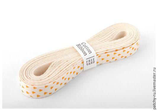 Шитье ручной работы. Ярмарка Мастеров - ручная работа. Купить Лента Dailylike 11 Yellow triangle. Handmade. Пэчворк, лента
