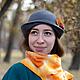 """Шляпы ручной работы. Ярмарка Мастеров - ручная работа. Купить Шляпка с рябиной """"Поздняя осень"""". Handmade. Серый, шапочка, осень"""
