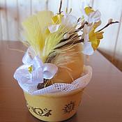 """Подарки к праздникам ручной работы. Ярмарка Мастеров - ручная работа Пасхальное яйцо """" Нарцисс"""". Handmade."""