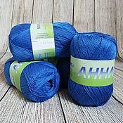 Материалы для творчества handmade. Livemaster - original item Yarn ANNA 16 141 aquamarine Italy Cotton. Handmade.