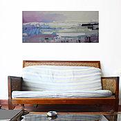 """Картины и панно ручной работы. Ярмарка Мастеров - ручная работа """"Северные дюны"""" 120х50 абстрактная картина маслом мастихином. Handmade."""