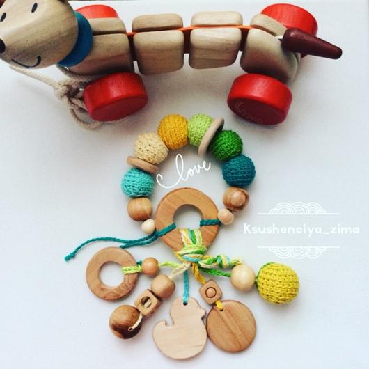 Развивающие игрушки ручной работы. Ярмарка Мастеров - ручная работа. Купить Погремушка-грызунок. Handmade. Погремушка вязаная, грызун, игрушка
