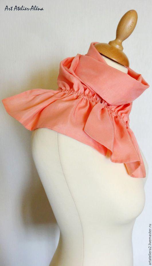 Шейный шарфик с застёжкой. Жетель. Розовый