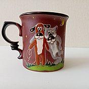 Посуда handmade. Livemaster - original item Mugs: Friends. Handmade.