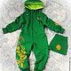 """Одежда унисекс ручной работы. Ярмарка Мастеров - ручная работа. Купить Детский комбинезон с авторской вышивкой """"Яркая зелень"""". Handmade."""