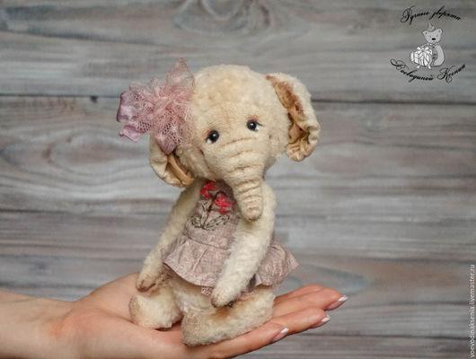 Мишки Тедди ручной работы. Ярмарка Мастеров - ручная работа. Купить Тедди слоненок Молли. Handmade. Розовый, летний сарафан
