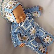Куклы и игрушки ручной работы. Ярмарка Мастеров - ручная работа Костюм «Ромашки» с бусинами (штанишки, кофточка, чепчик). Handmade.