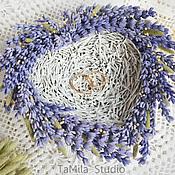 Свадебный салон ручной работы. Ярмарка Мастеров - ручная работа Гнездо тарелочка для колец Лавандовое сердце. Handmade.